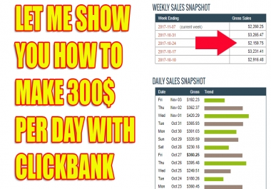 Show You Secret Way How To Make 300$ Daily With CLICKBANK