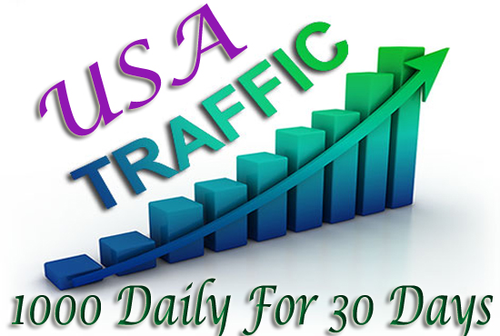 Daily 1000 USA TARGETED Website Traffic to your web or blog site for 30 Days