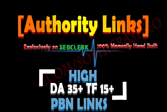 Create 2 permanent pbn links da 35 tf 15 dofollow backlinks