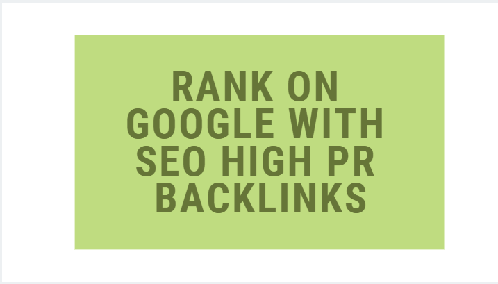 rank on google with SEO high pr backlinks pyramid