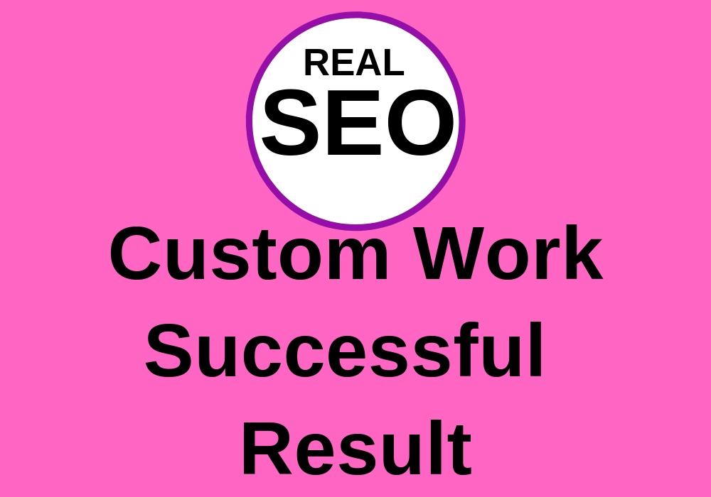 Custom Work and Successful Result - Guarantee Fly upwards