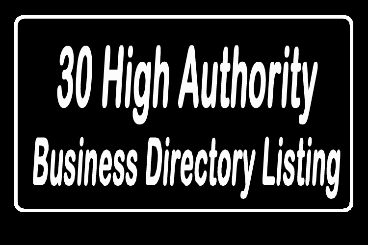 30 High Authority Approved Business Directory Listing