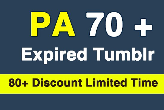 1 Expired Tumblr Web 2.0 PA 70+ and 5 PA 30+ Registered