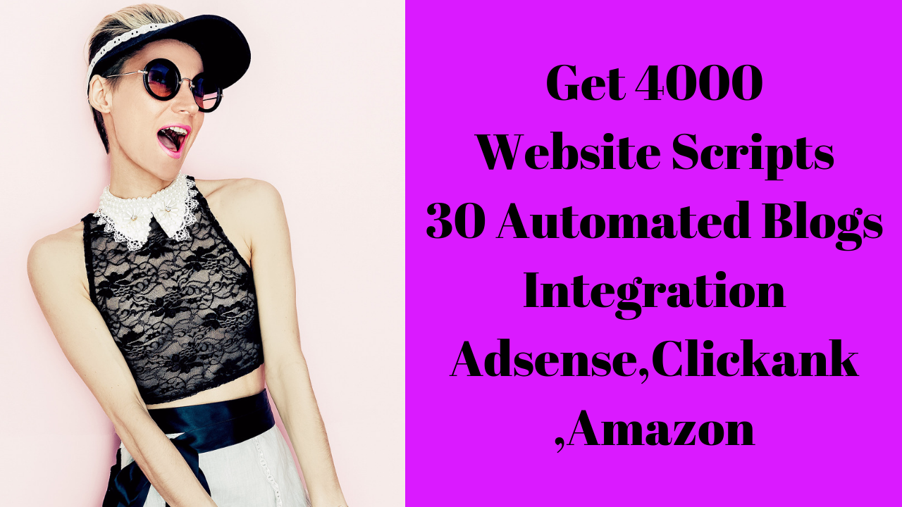 Give You 4000 Website Scripts And 30 Automated Blogs