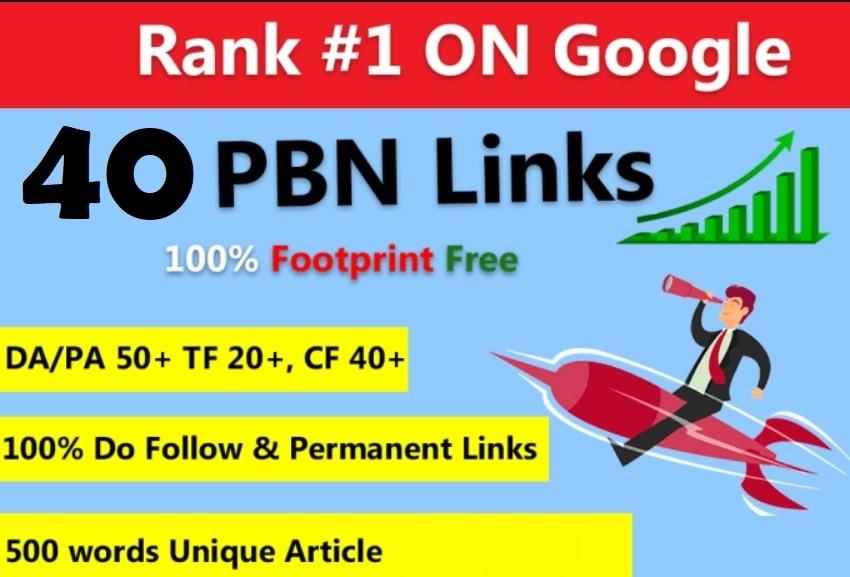 40 Permanent HomePage PBN Links