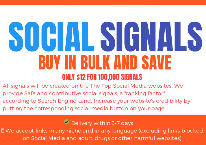BLACK FRIDAY SALE - 200.000 SOCIAL SIGNALS