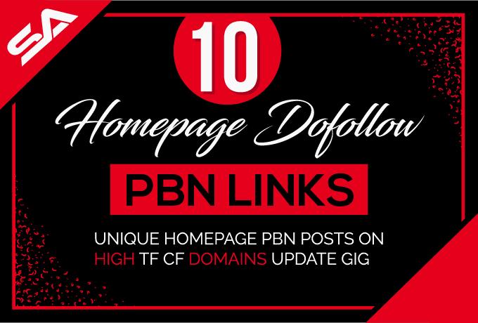 Build 10 Pbn Links Da 5 Plus Homepage Dofollow Pbn Links UPDATE GIG