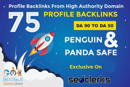 Create unique 75 lasting SEO backlinks on HQ sites