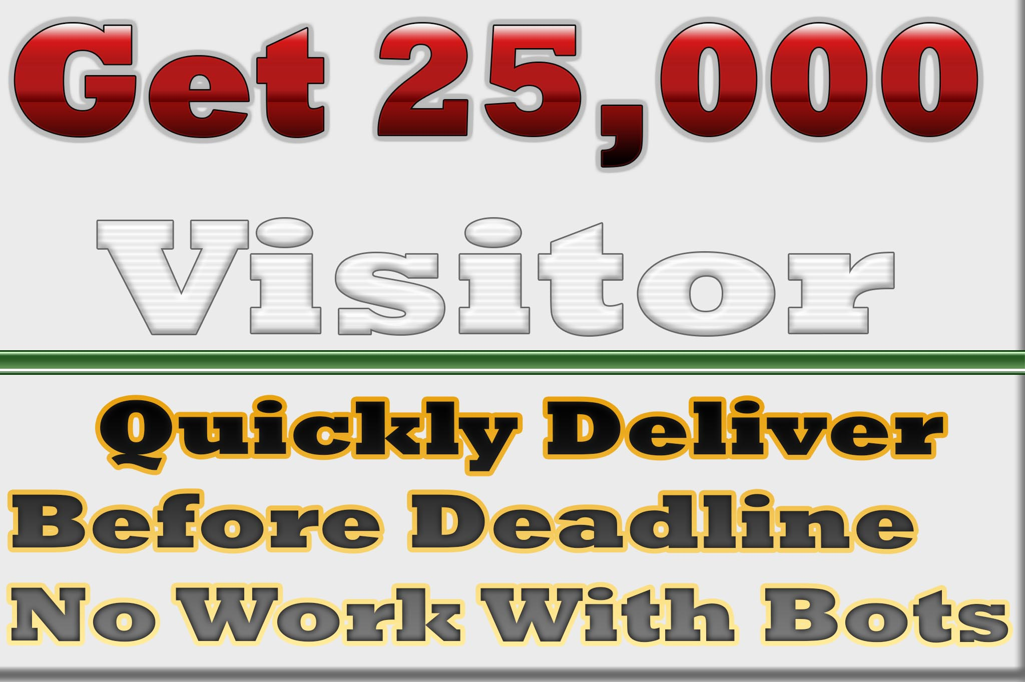 Drive Real 25,000 human traffic to your Website
