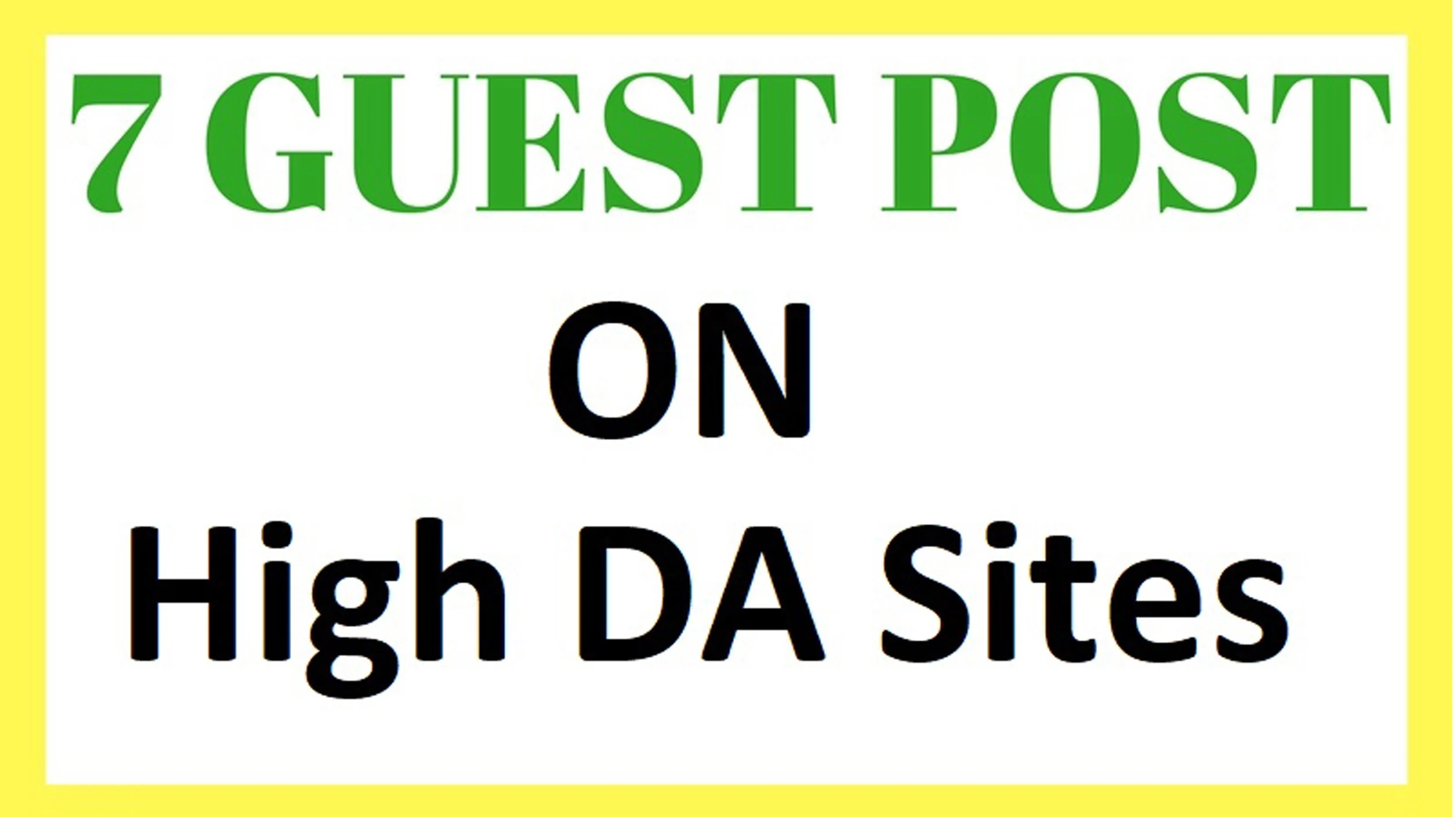Write And Publish 7 High Quality Guest Post With Da Above 94