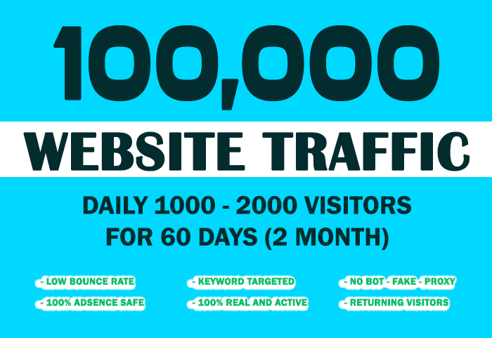 Send 100,000 Keyword Targeted Organic Traffic With Lo...