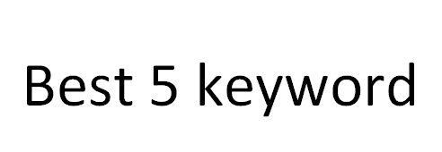 Effective 5 keyword research manually