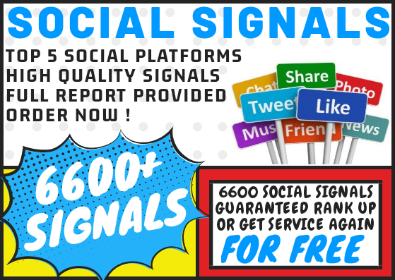 6600 Social Signal Bookmarks on Top 5 Social Media Platforms Rank Up Guaranteed or get FREE Service