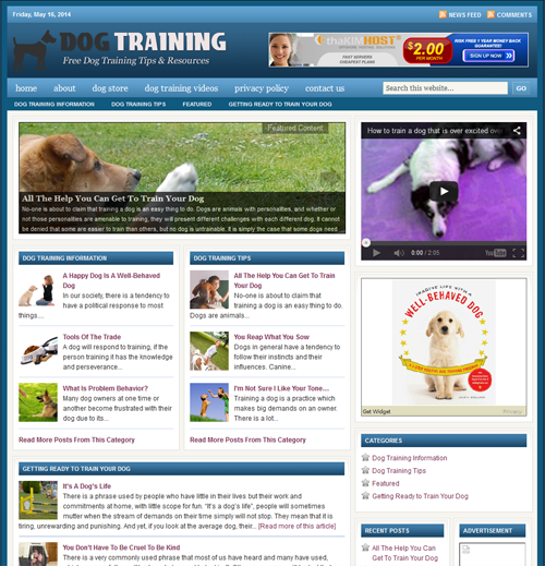 Fully Automated Wordpress Dog Training Website - 100 Autopilot - SEO Ready Website