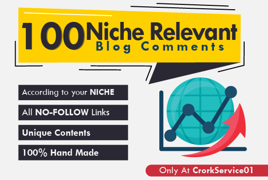 Provide 100 High Quality Niche Blog Comments With Low...