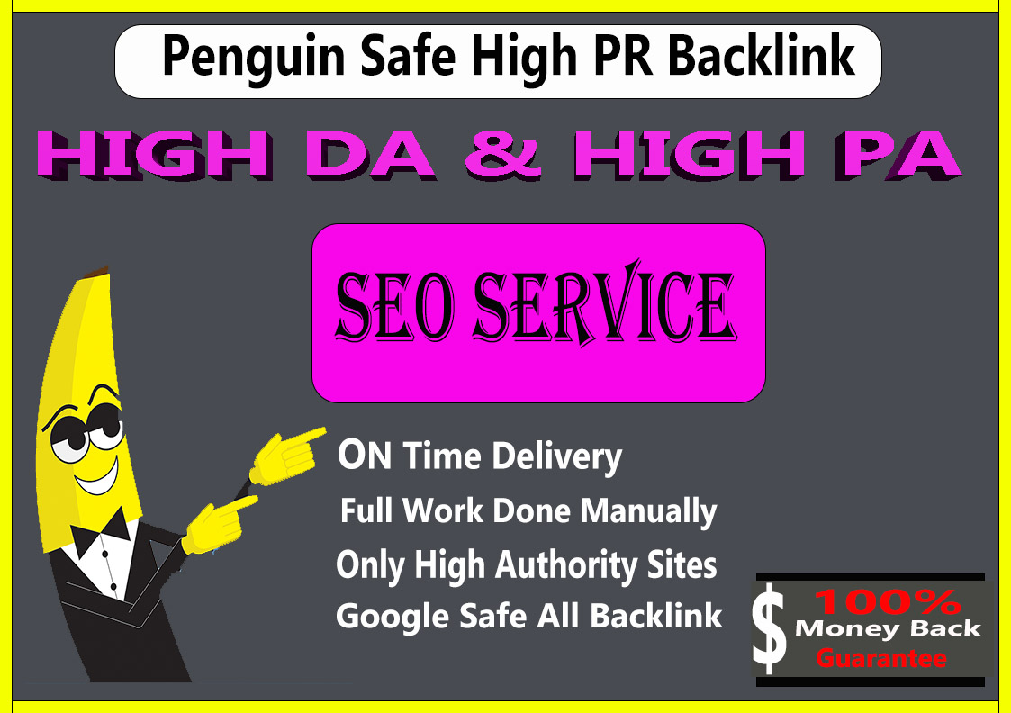 Daily 10+ High Authority PR5-PR10 or DA60+ Manual Backlinks 30 days To Jump on Google 1st Page