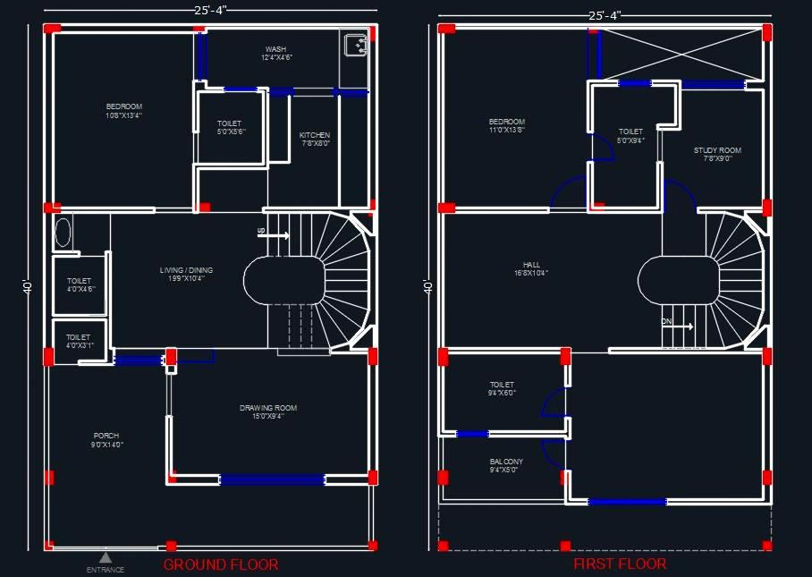 Professional Civil AutoCAD Drawing from your Detailed Hand-Sketch