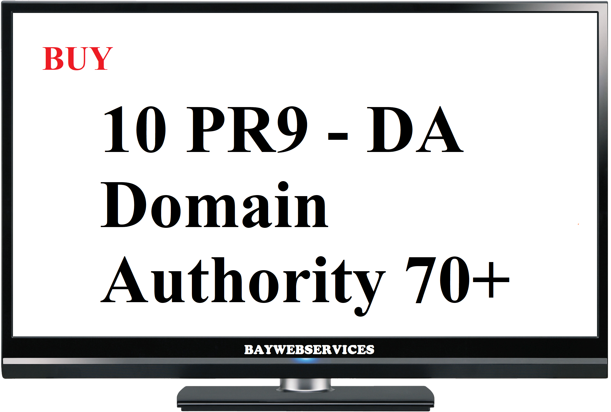 10 PR9 - DA (Domain Authority) 70+ Backlinks