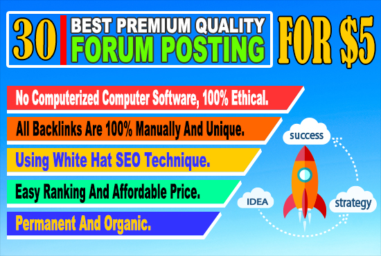 30 best pq keyword related manually forum posting back-links for your website