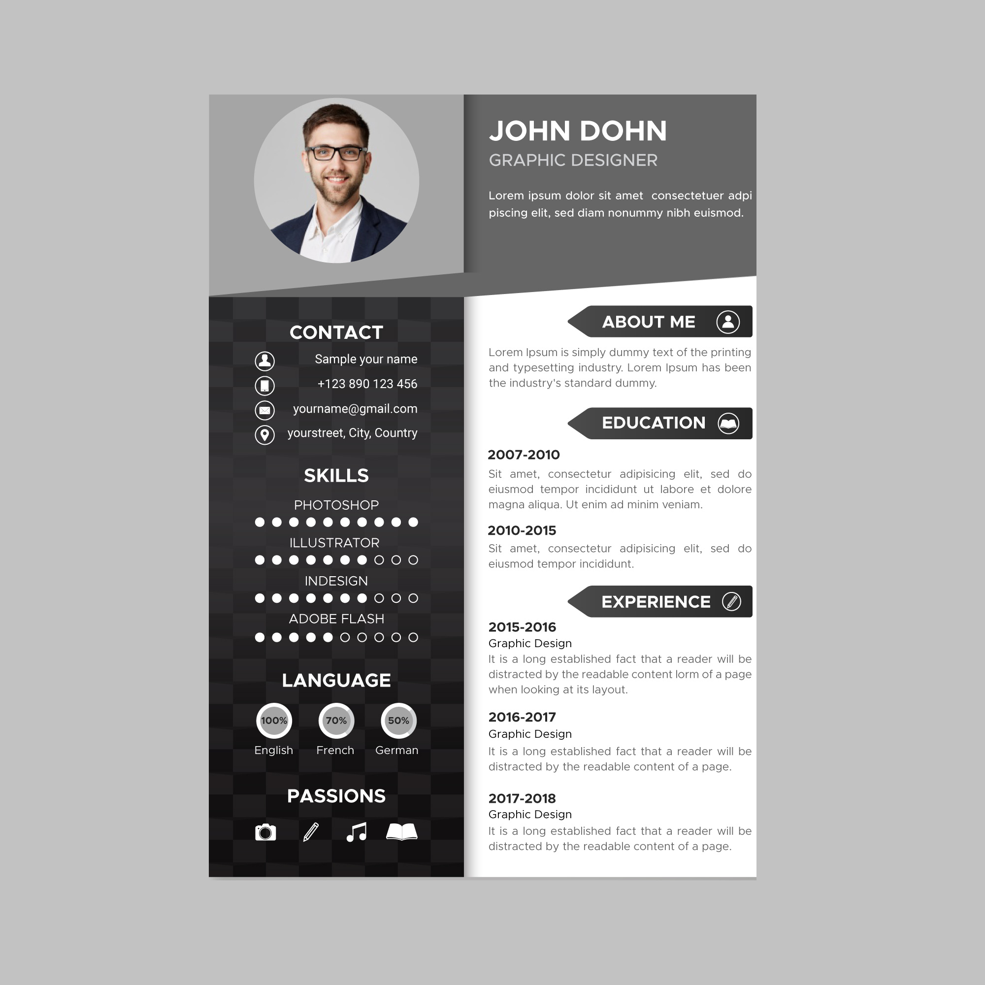 Design a Stunning Resume and cover letter