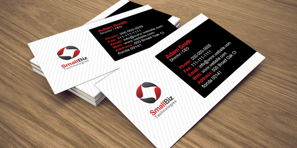 Graphic design business cards for companies and businesses