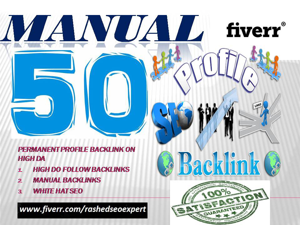 Build 50 High Dofollow Profile Backlinks