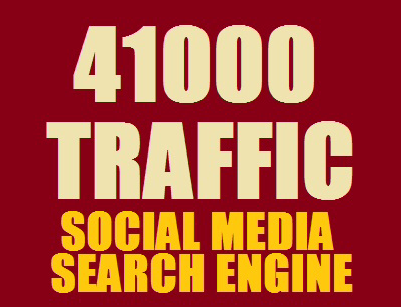 send Real 41,000 + Web Traffic WORLDWIDE from Search Engine and Social Media