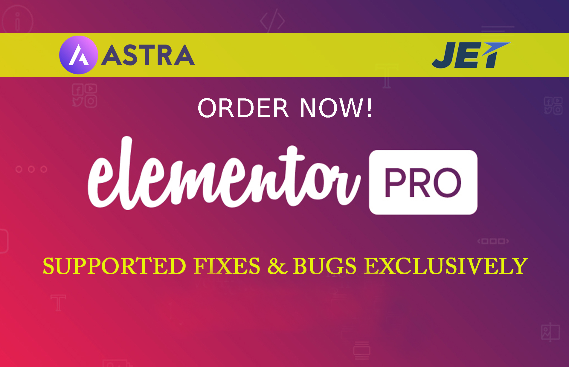 Use Elementor Pro Astra Pro Mini Agency and Jet Bundle for your WordPress site