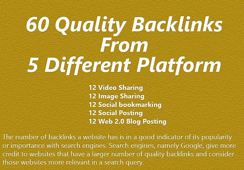 Skyrocket Your Ranking With Our 60 SEO Backlinks From...