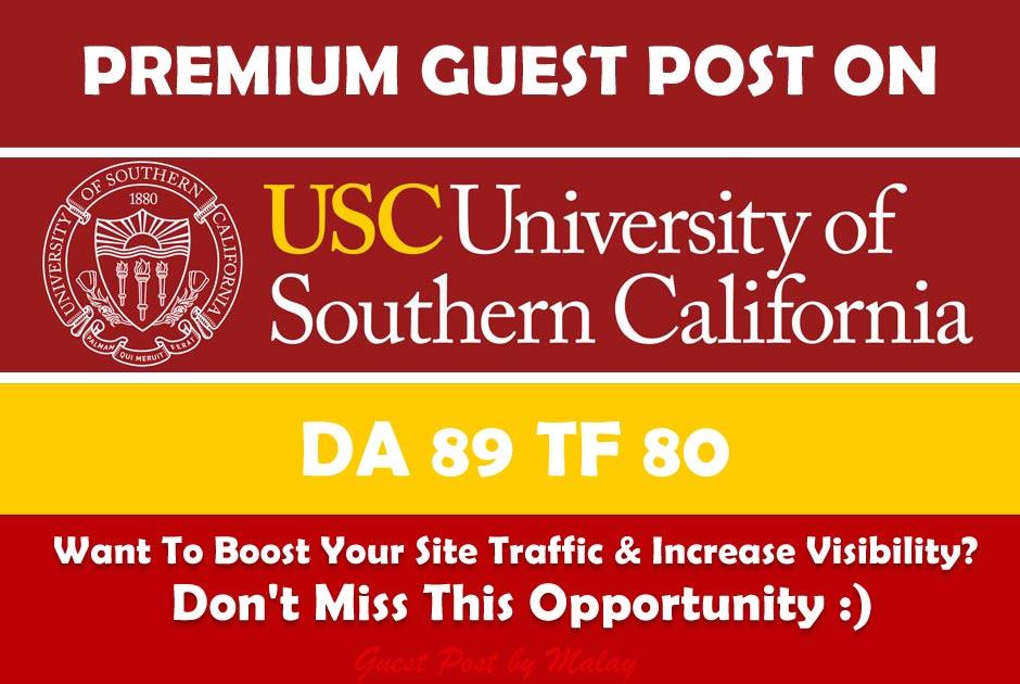 Guest post on California Edu University Blog - usc.edu - DA 89