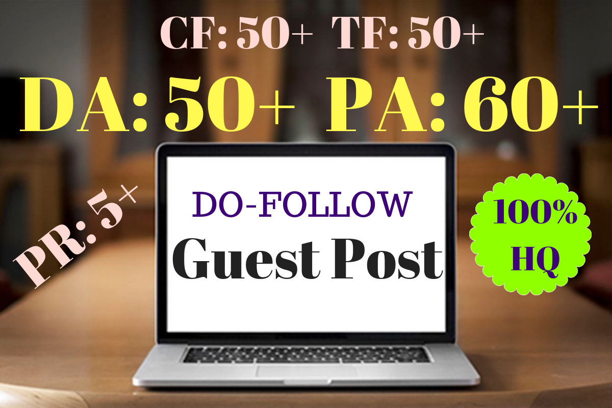I can Write and  publish 3 do-follow guest posts in 3 high authority sites