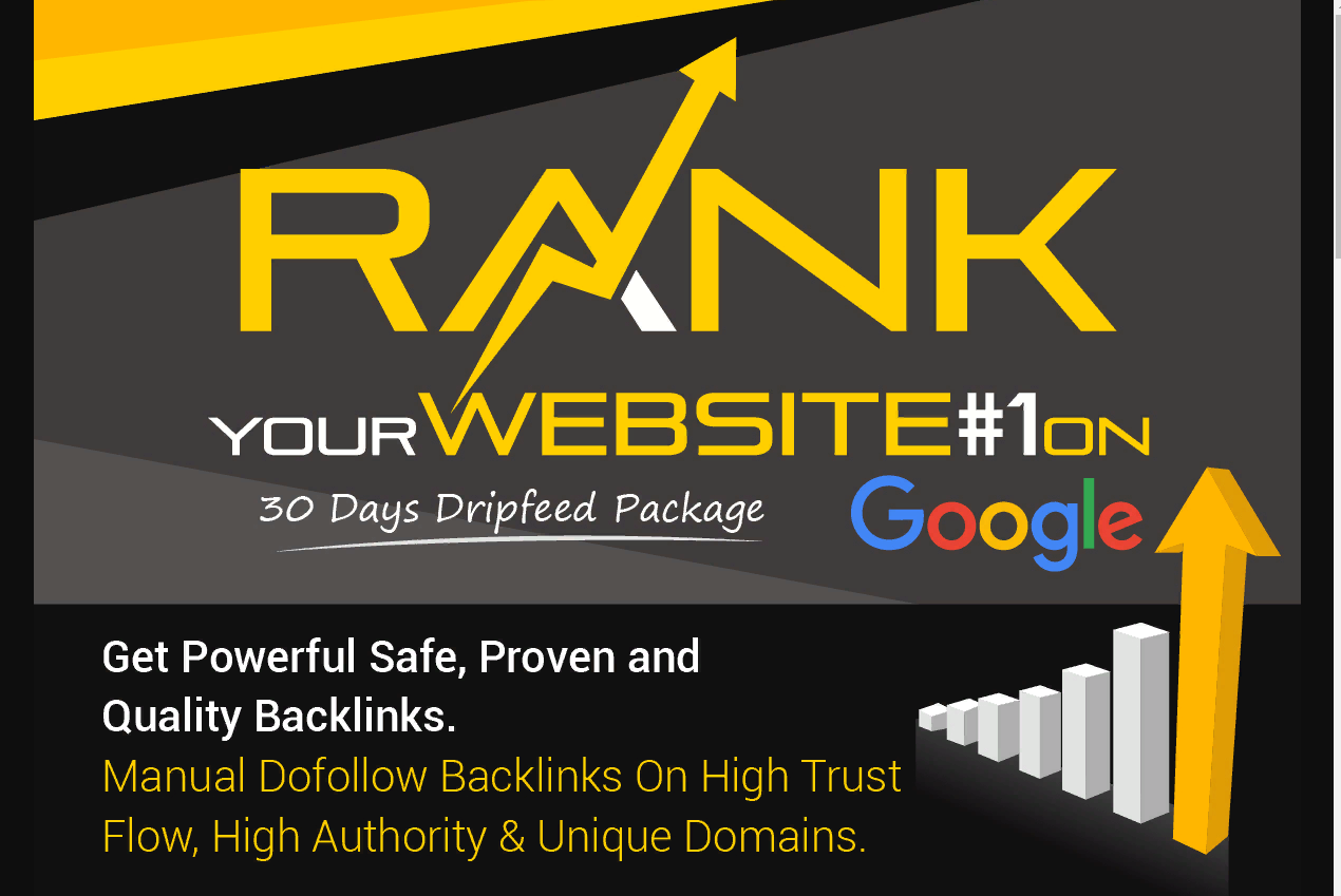 Rank Your Website on TOP Google Ranking for 30 Days SEO Backlinks Manually