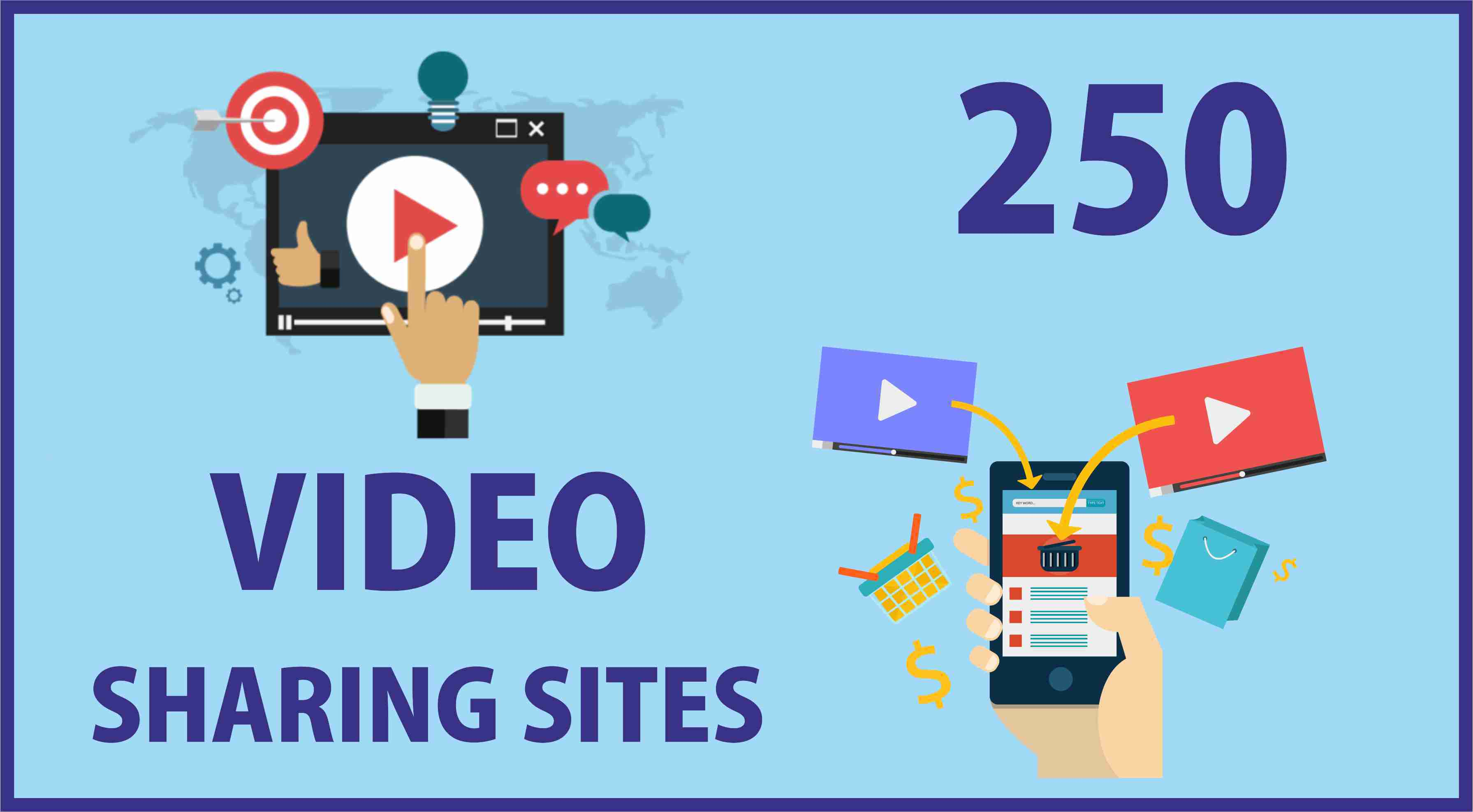 250+ Video Sharing Sites