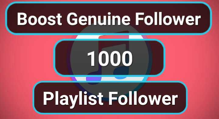 Super Fast 1000 Genuine Profile Playlist Artist followers
