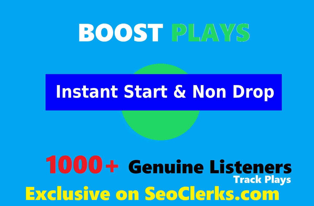 SUPER FAST- 1000 High Quality Organic Music Track Promotion