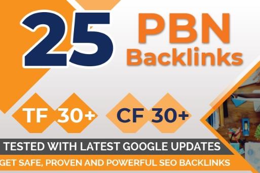 Build 25 Pbn Backlinks, High Metrics Aged & Pbn ...