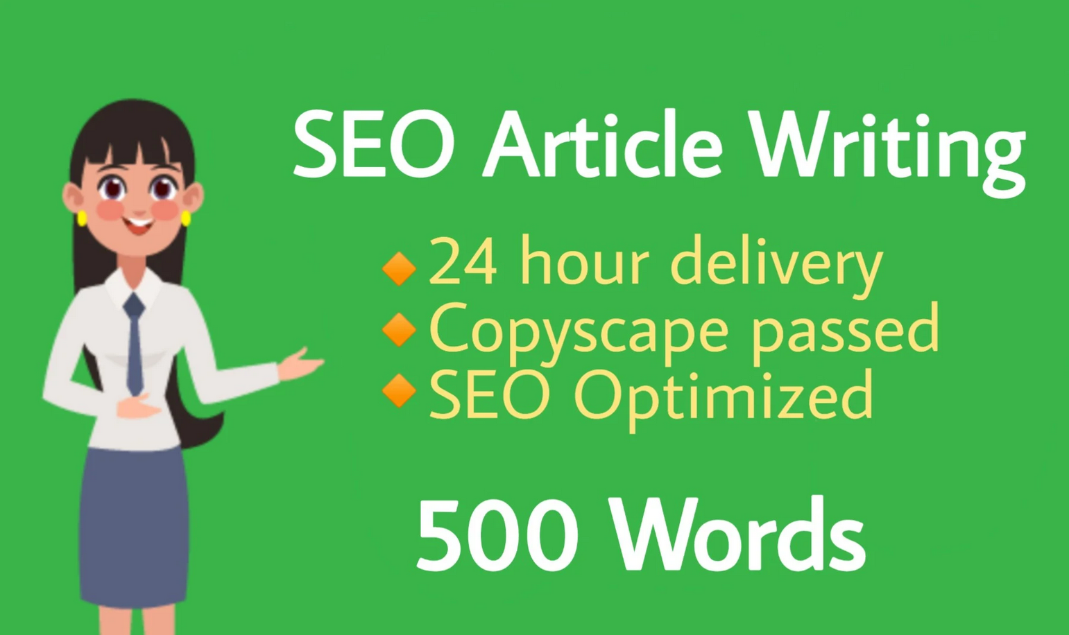 Top Quality SEO article writing of 500 words in 24 hours