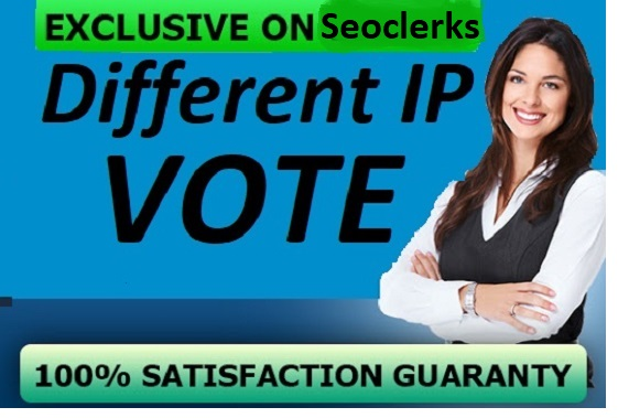 500 Targeted Guaranteed Different IP Votes Any Contes...