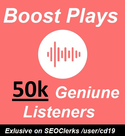 50,000 Unique Listeners Hits on track Music promotion