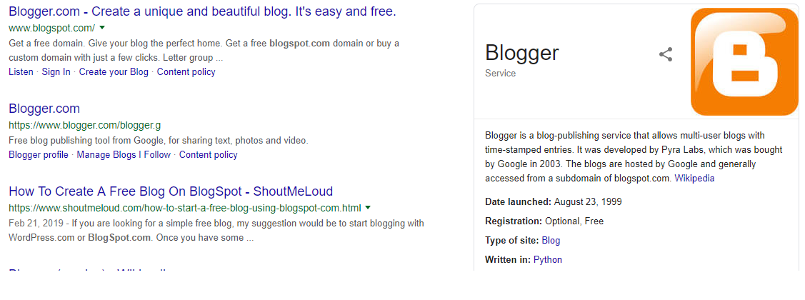 I'm going to create a blogspot website for you