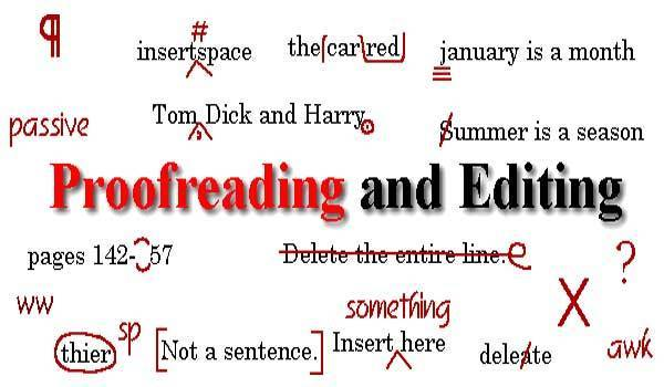 proofreading and editing any document English,  Arbic & Urdu up to 1000 words in a day
