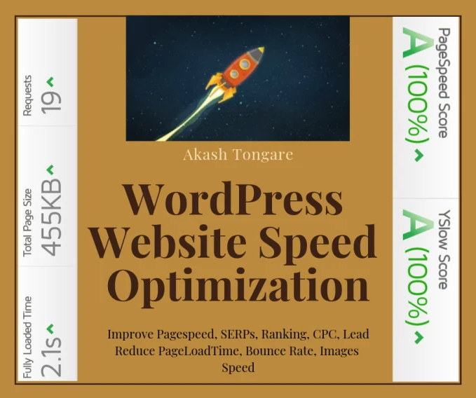 Wordpress speed optimization With Gt Metrix Pagespeed