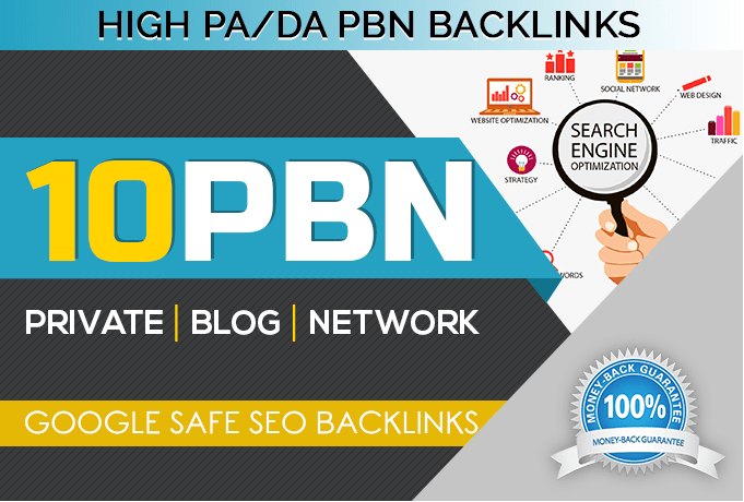 Create 10 PBN Links on High TF/DA domain Quality Backlinks
