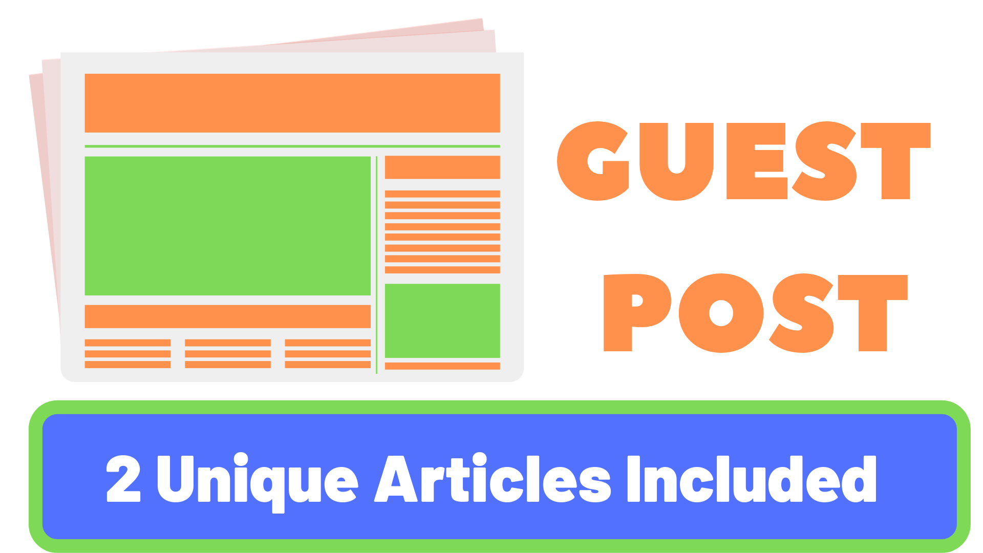 Provide 2 High Authority Guest Post For No 1 Rankings