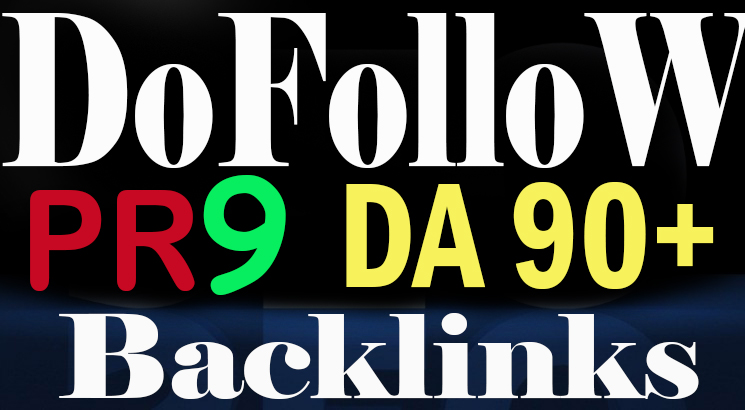 50 Real Dofollow PR9 DA100 to 60 HQ Backlinks increase your DA & Google Rank