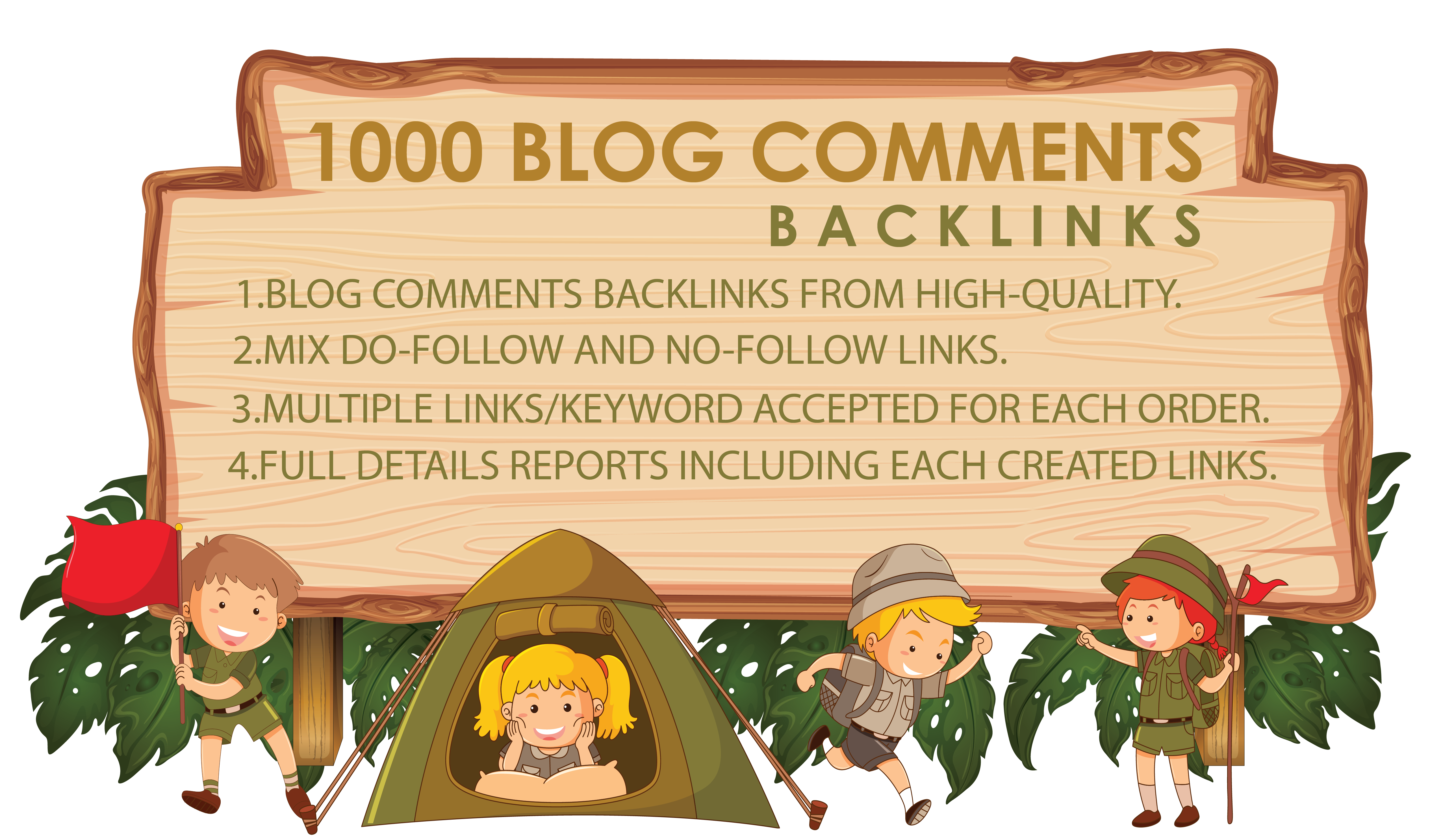 Provide 1000 Blog Comments Backlinks From High Quality