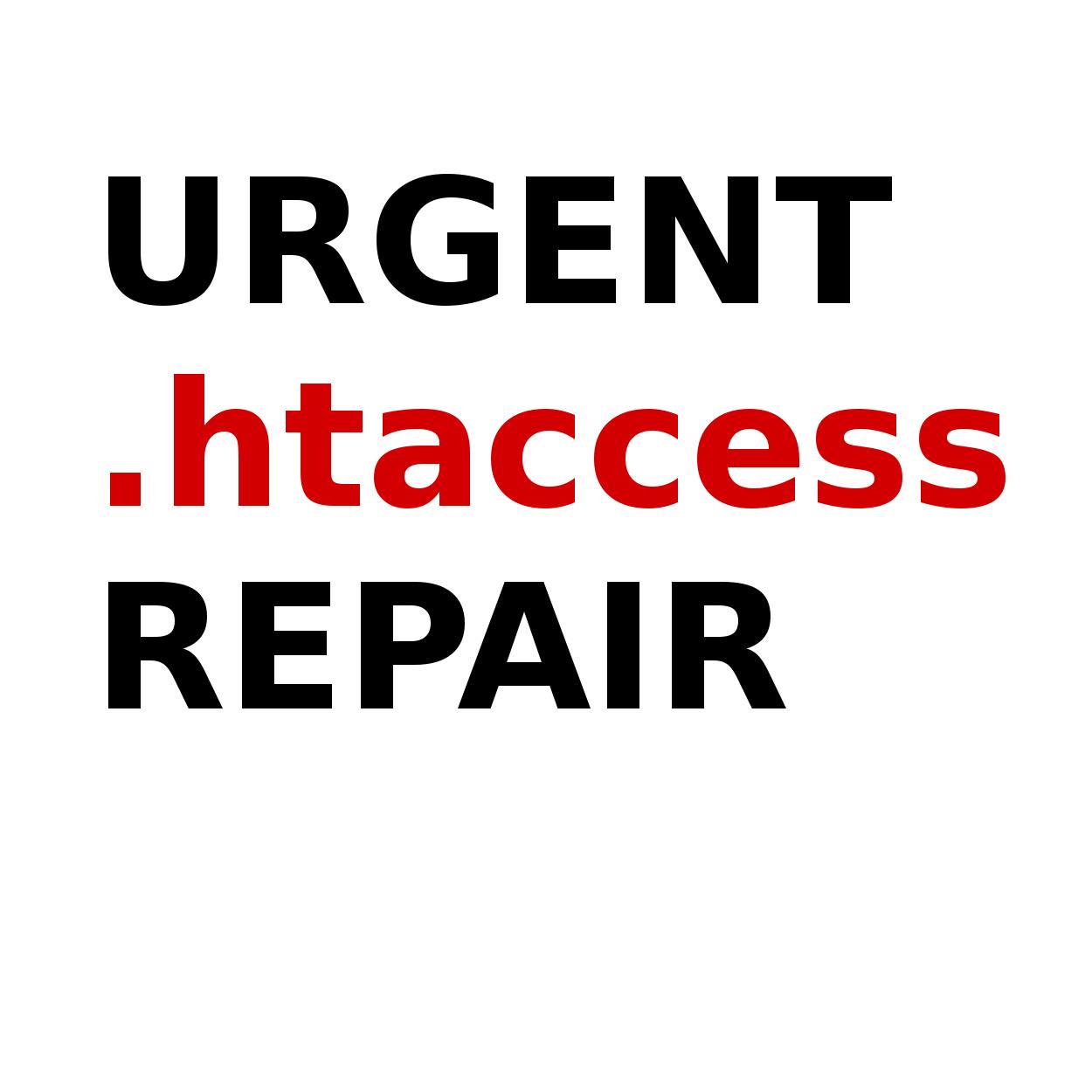 . htaccess file repair for Wordpress