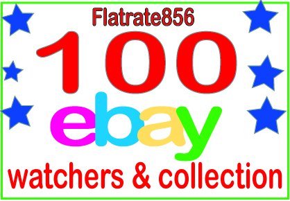 add 100 UK, USA, AU, CAD Ebay watchers & collection to boost your sales
