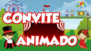 Animated invitation for parties and celebrations