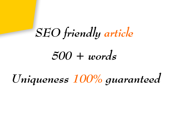 SEO friendly 500+ words article that will unique & readable